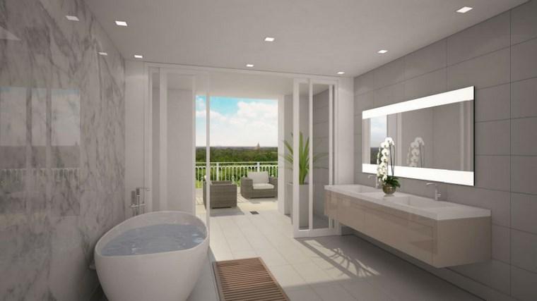 baño diseños banera forma ovalada preciosa ideas