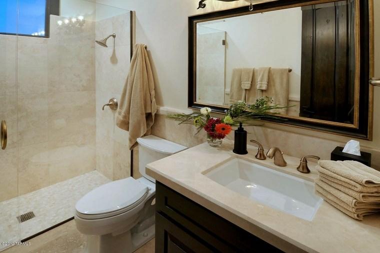 baño diseños colores neutros suelo pared ideas