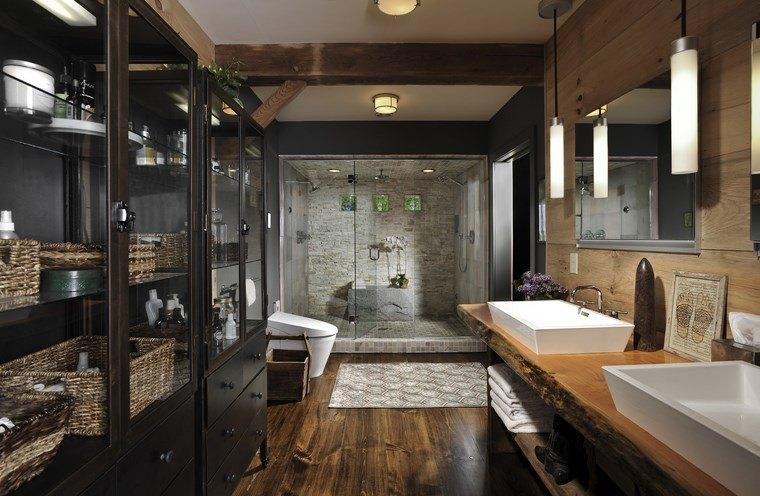 bonitos lavabos diseno armarios puertas cristal ideas