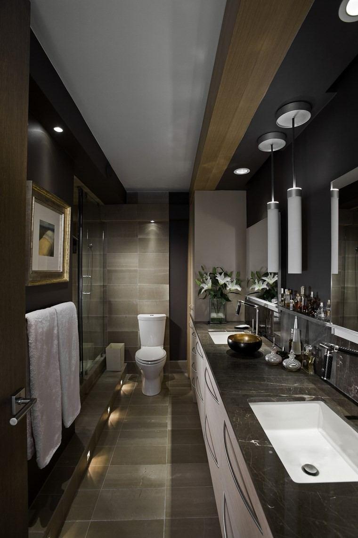 Ba os bonitos con lavabos de dise o 36 ideas for Banos modernos oscuros