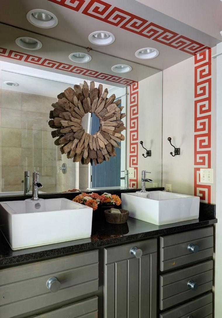 bonitos lavabos diseno decoracion espejo ideas