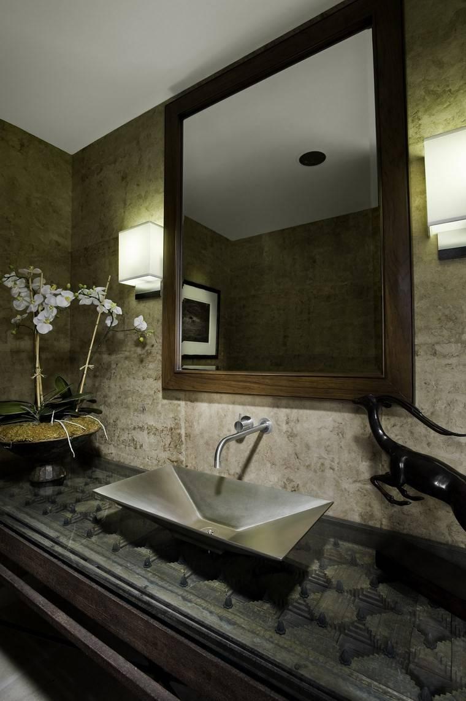 Lamparas Para Los Baños:baños bonitos lavabos diseno espejo lamparas ideas