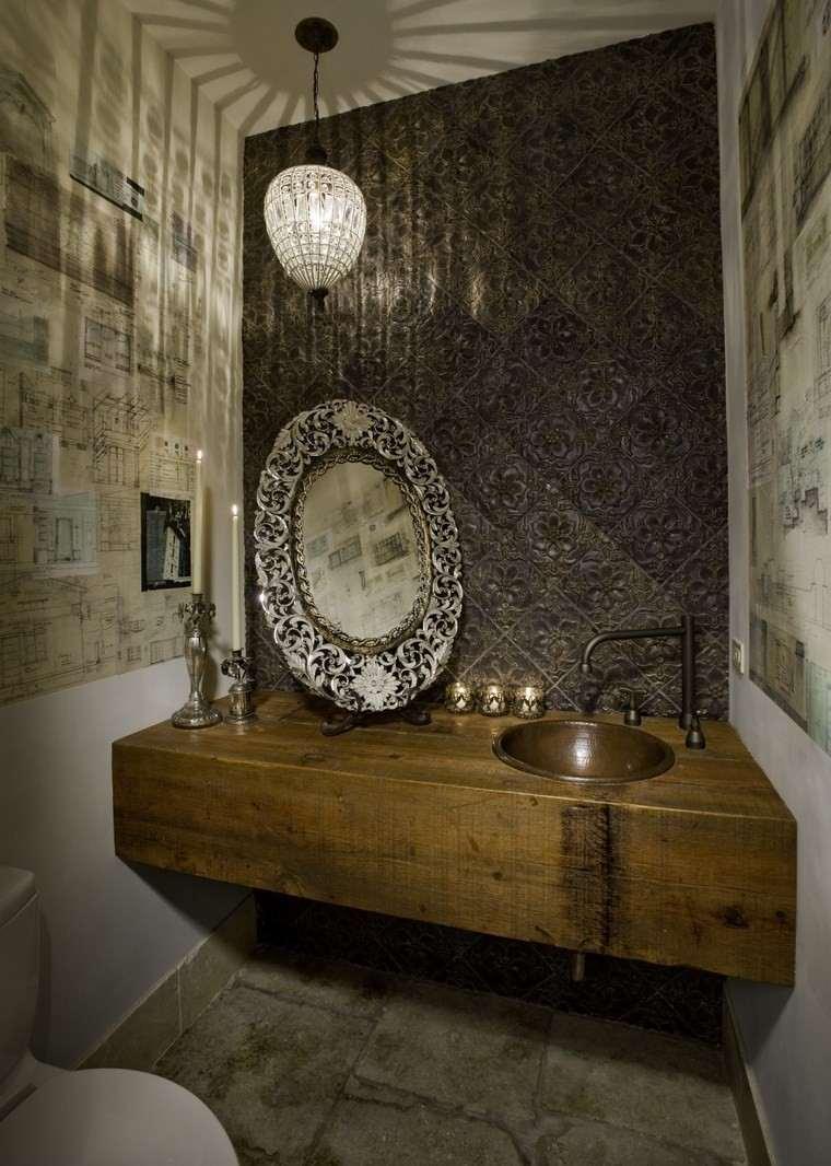 baños bonitos lavabos diseno espejo vintage ideas