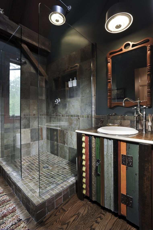 baños bonitos lavabos diseno estilo rustico ideas