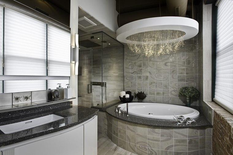 baños bonitos lavabos diseno iluminacion lujosa ideas