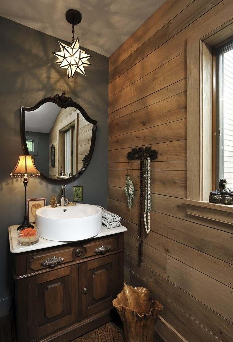 Diseno De Baños Hermosos:pared de madera en el baño moderno de diseño