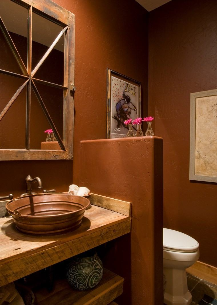 banos bonitos lavabos diseno lavabo cobre ideas