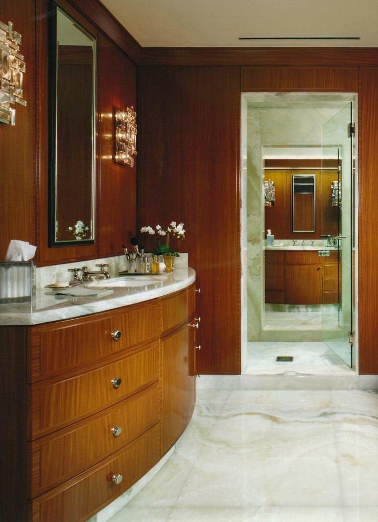bonitos lavabos diseno madera paredes ideas