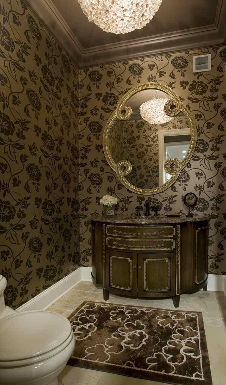 bonitos lavabos diseno papel pared original ideas