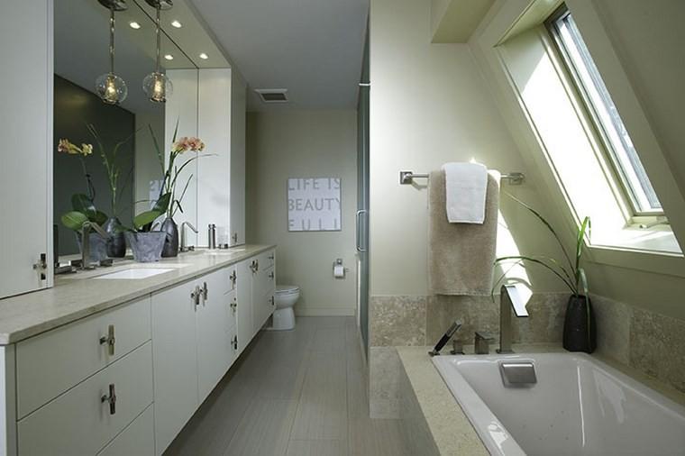 bonitos lavabos diseno plantas decorativas ideas