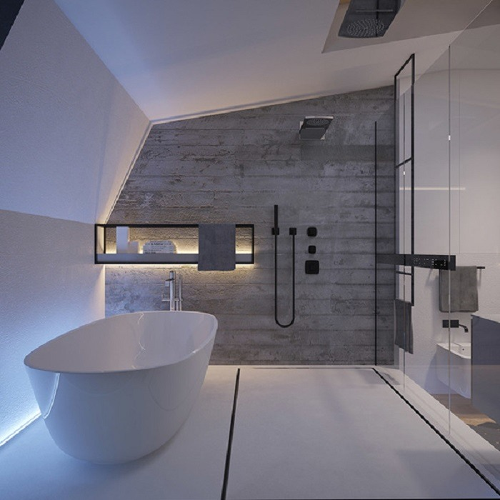 Baños Con Ducha Negra:ducha negra en el baño moderno