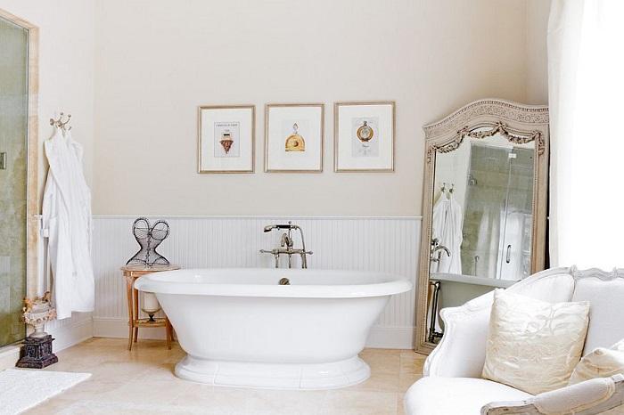 banos con ducha banera cuadros pared ideas