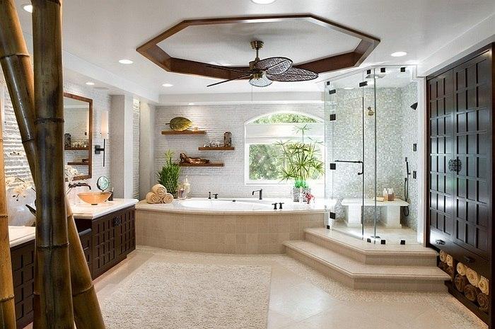 banos con ducha banera estanterias ideas
