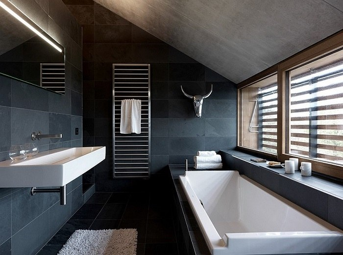 banos con ducha banera iluminado ventanas ideas