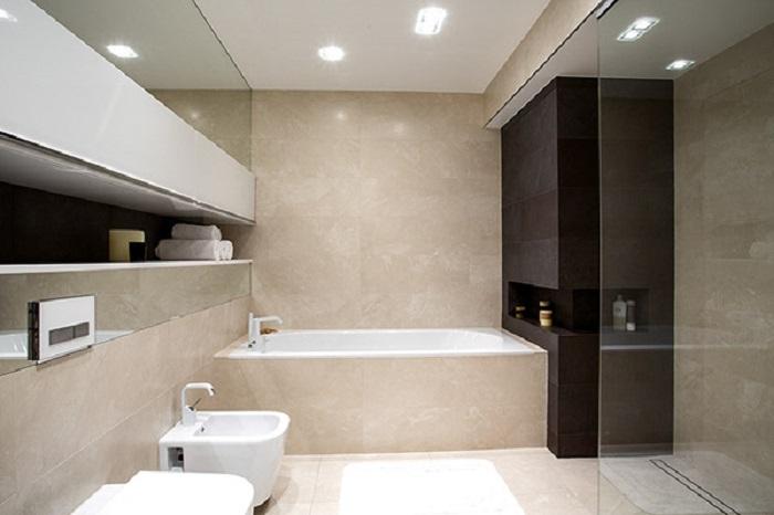 banos con ducha banera luminoso losas ideas