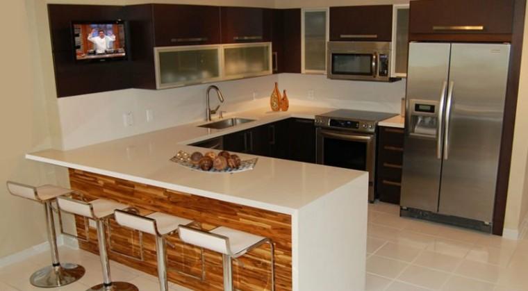 Cocinas peque as en forma de u 38 dise os fant sticos for Muebles para cocinas pequenas modernas