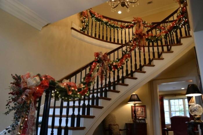 blanco navidad detalles lazos lamparas