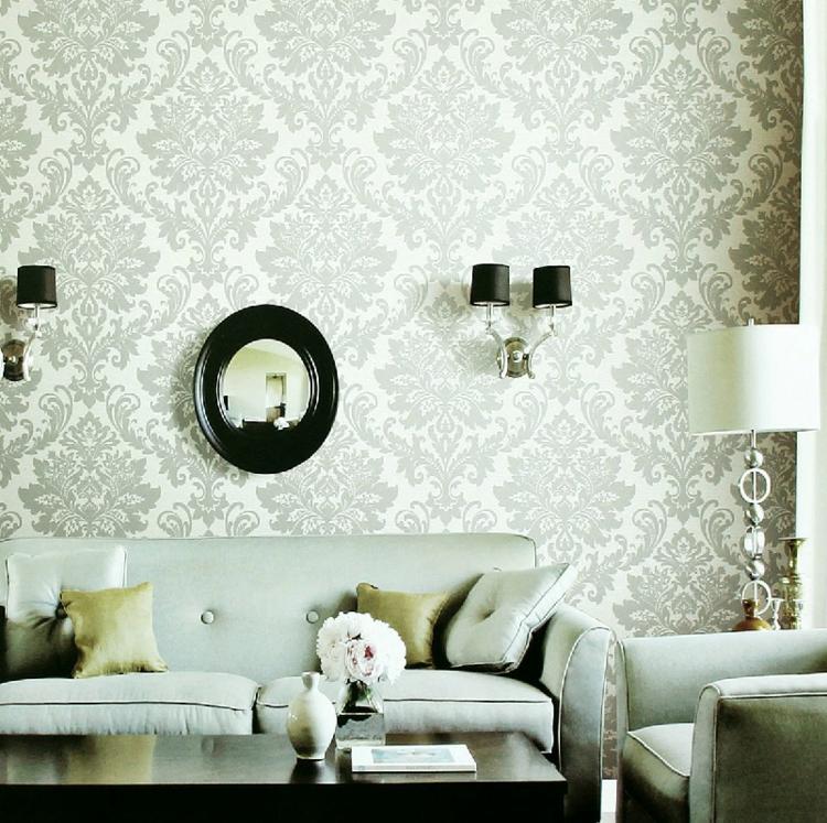 blanco soluciones paredes florales negro