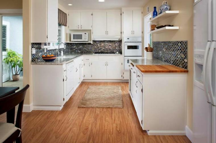 bonita cocina moderna blanco