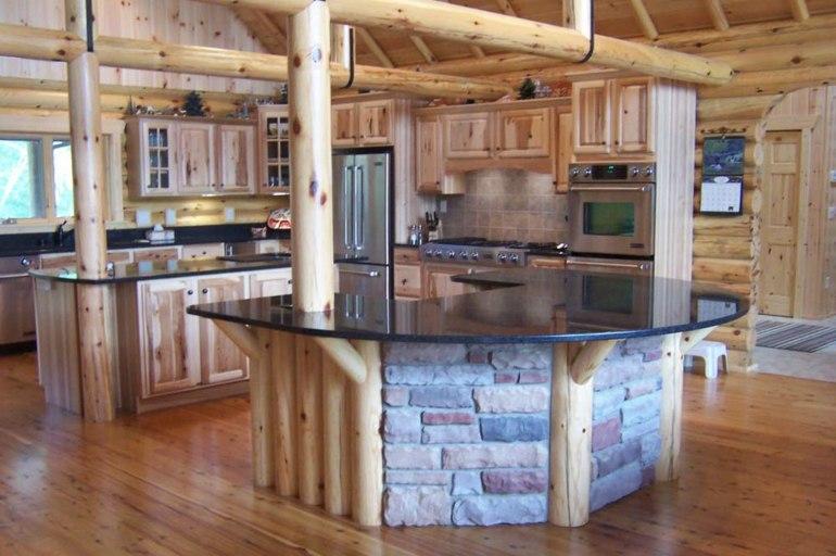 bonita cocina diseño estilo rustico