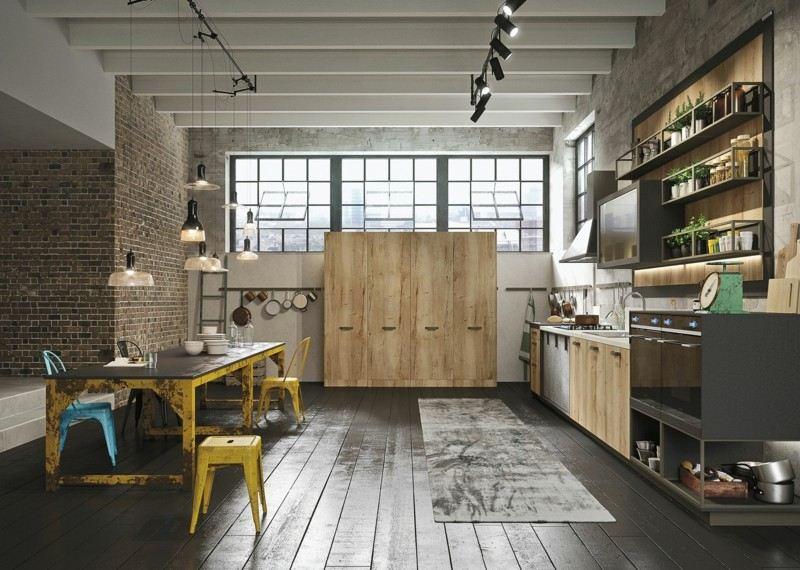 Cocina italiana de la marca snaidero 50 dise os for Muebles de cocina estilo industrial