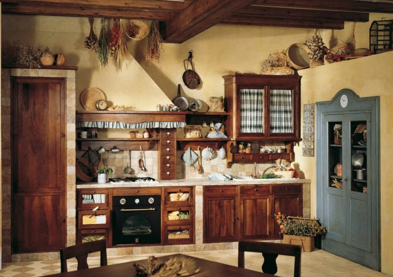 Decoraci n de cocinas r sticas 50 ideas originales for Piani casa piccola casetta con soppalco