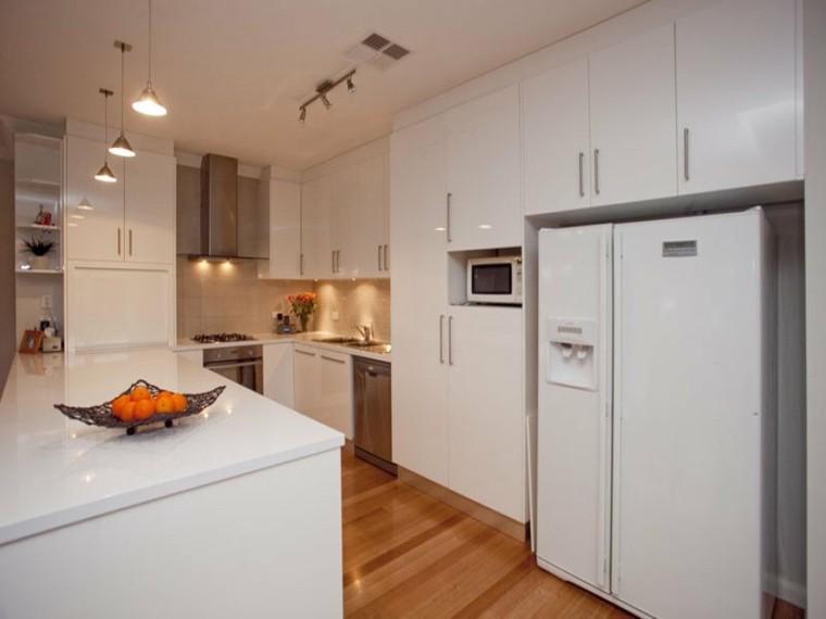 Cocinas peque as en forma de u 38 dise os fant sticos for Cocinas blancas modernas pequenas
