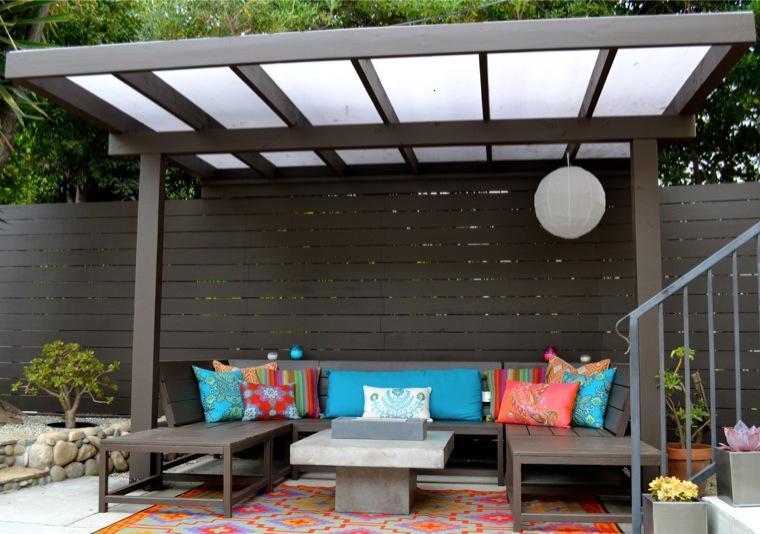 Gazebos y p rgolas ideas interesantes originales y modernas - Pergola para terraza ...
