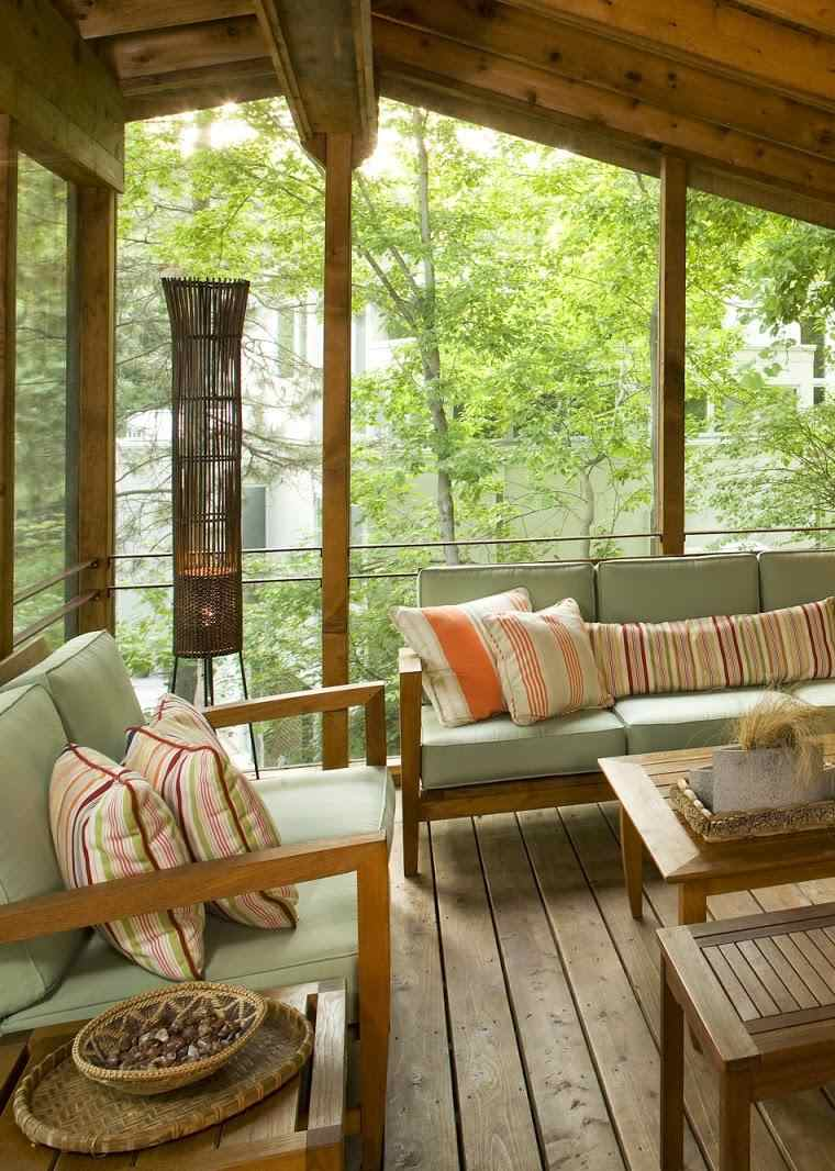 decoración muebles terraza porche