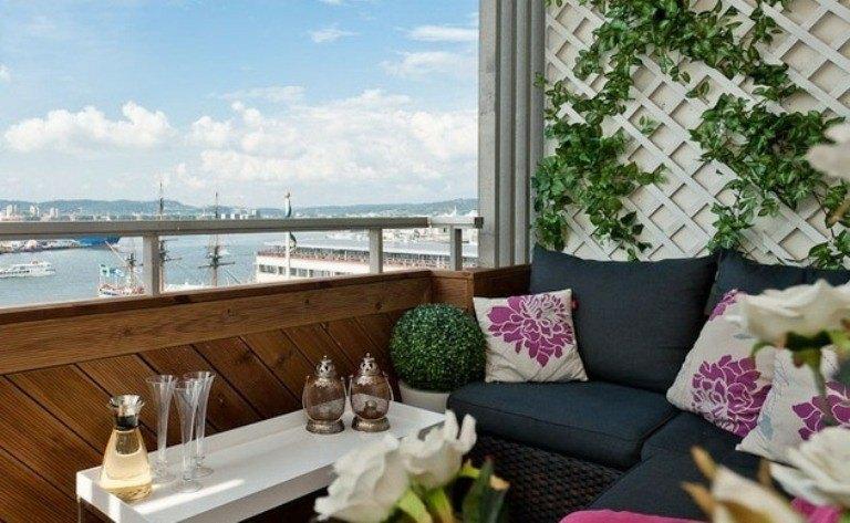 bonita decoración balcon vistas