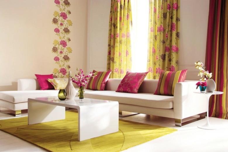 bonitas cortinas estampados flores rosas