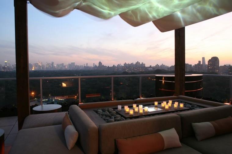 bonitas vistas atardecer terraza pergola