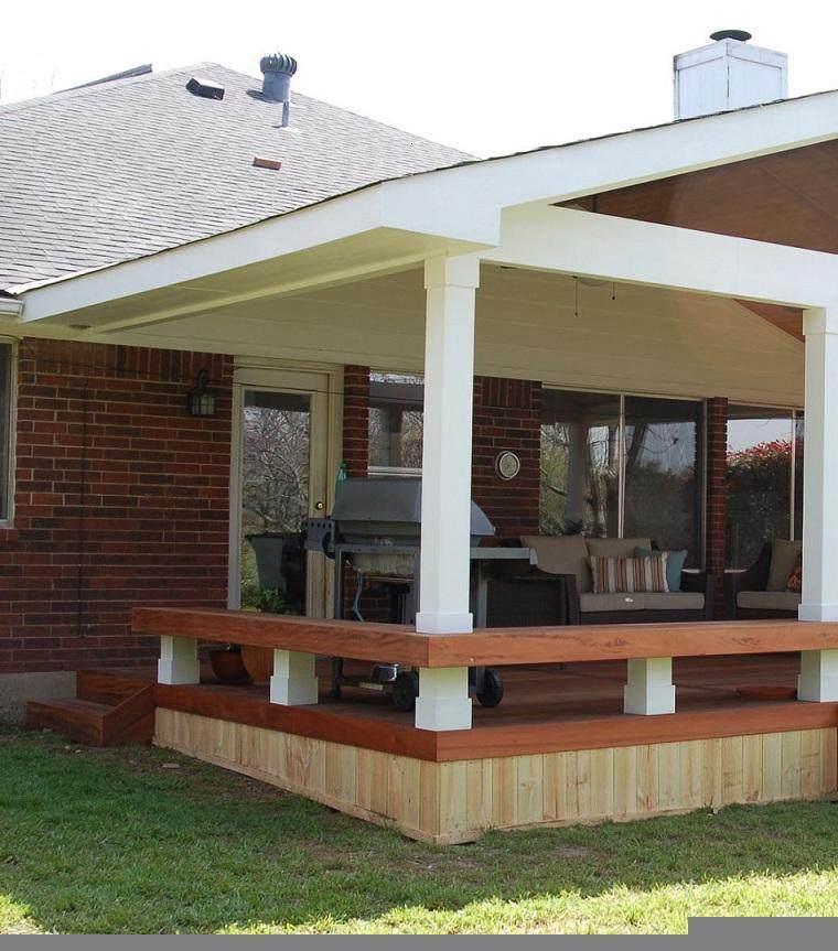 porche plataforma dos maderas