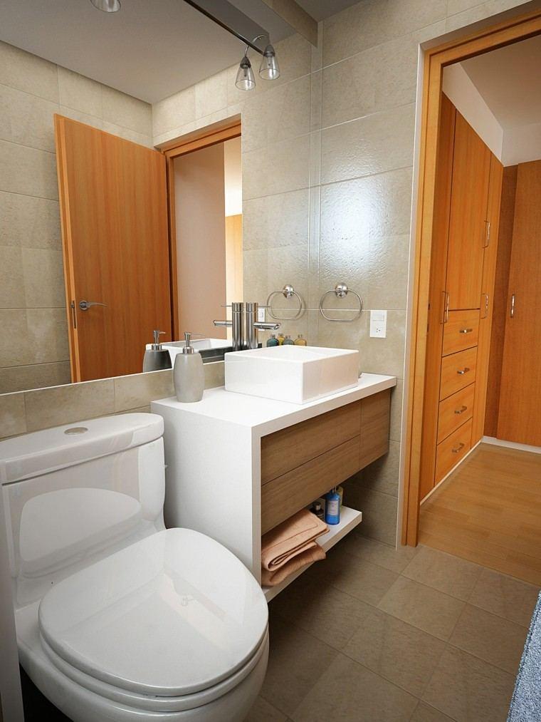 Ba os peque os con ducha 38 dise os de moda for Banos bonitos y modernos