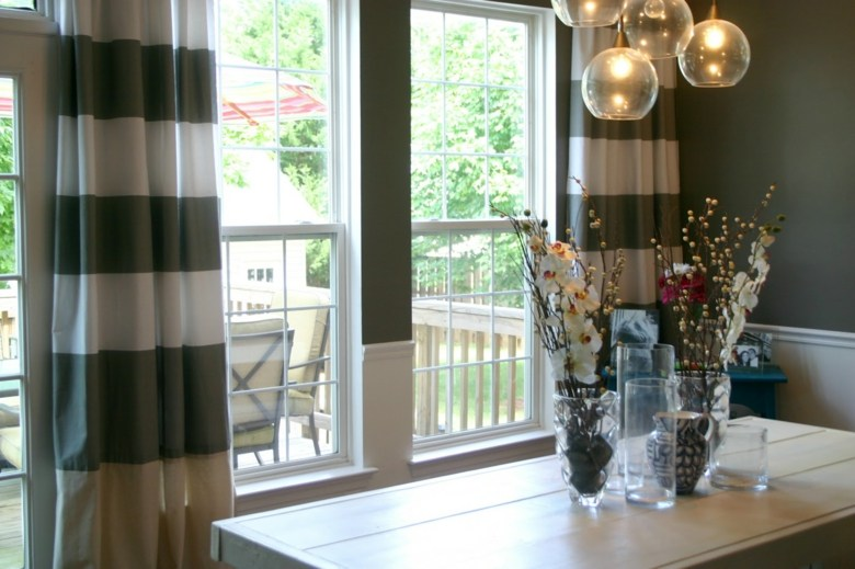 bonito diseño conjunto cortinas