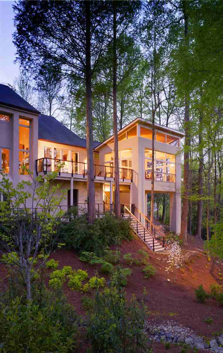 Porches para terrazas modelos de espacios semicubiertos for Diseno de casas de campo modernas
