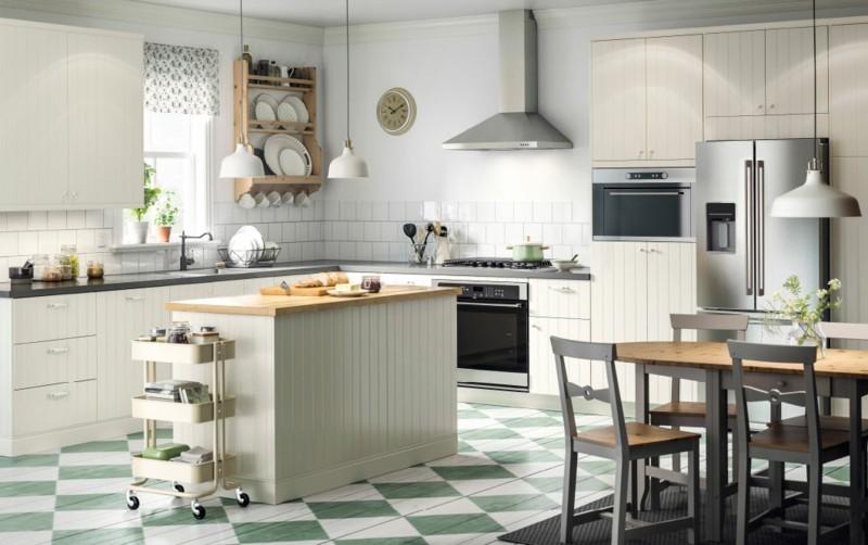 bonito diseño cocina blanca ikea