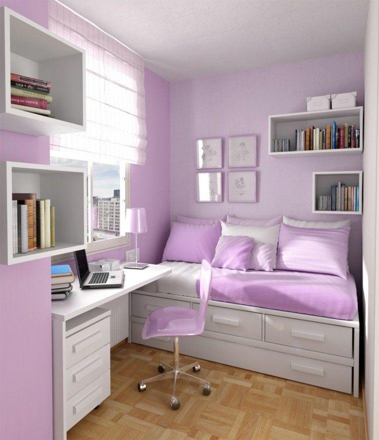 bonito diseño dormitorio color lavanda