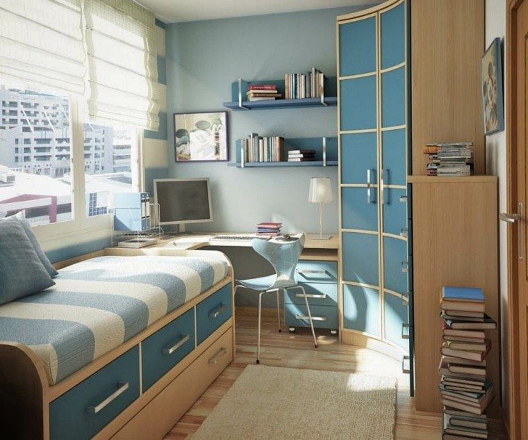 bonito diseño habitación juvenil