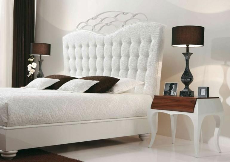 lamparas de dormitorio mesillas noche marrones