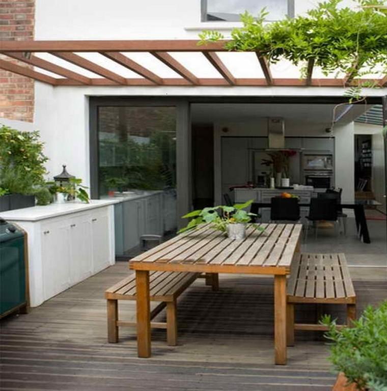 cubierta velador madera ventilado