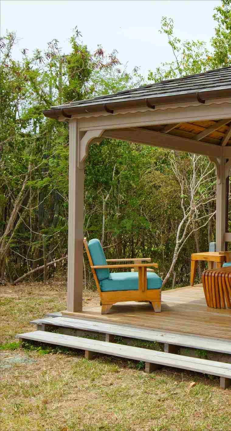 caseta pérgola madera diseño