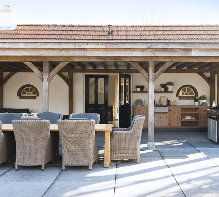porche terraza cubierta madera