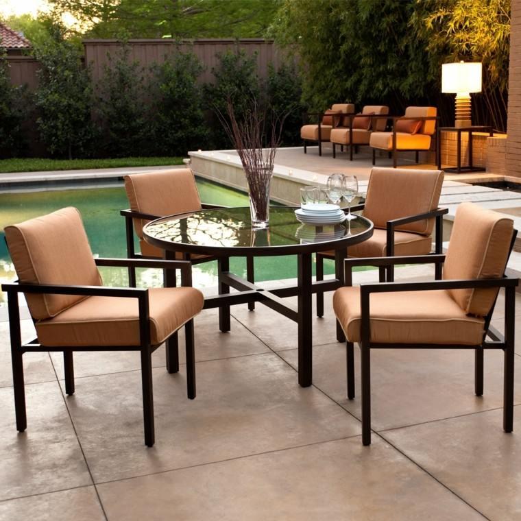 bonito diseño sillas jardin acolchadas