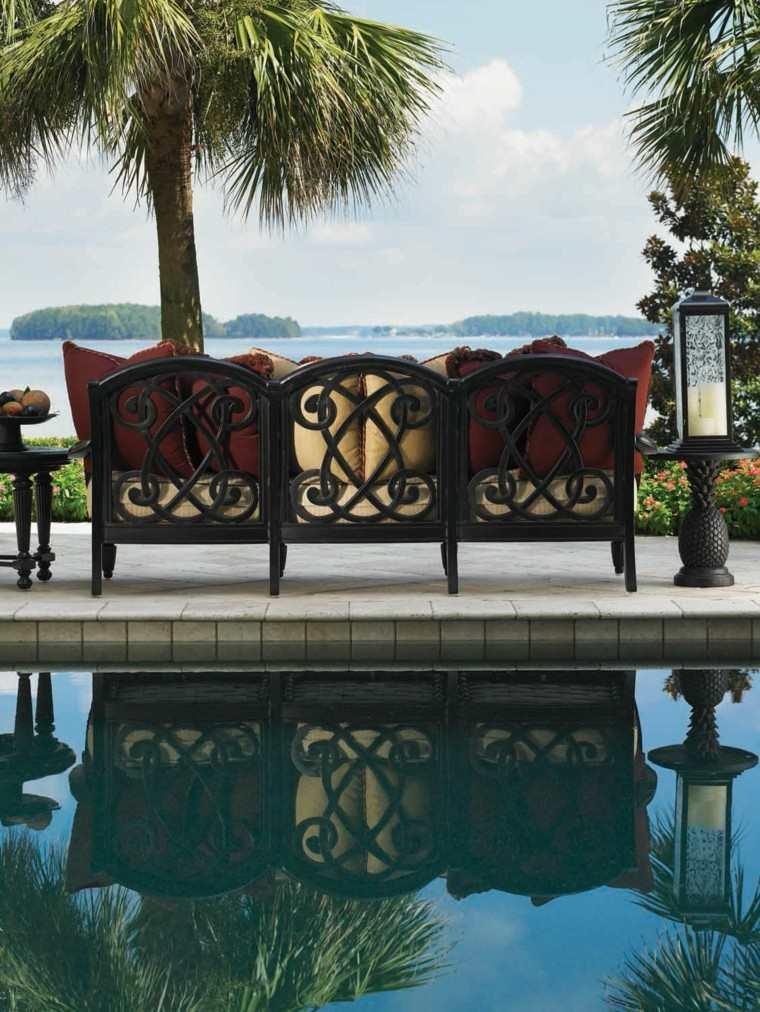bonito diseño sofa para jardin