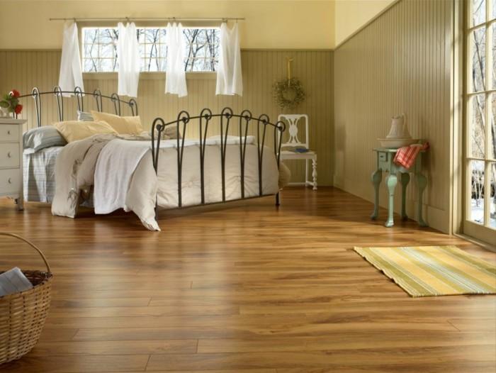 bonito diseño suelo madera habitación