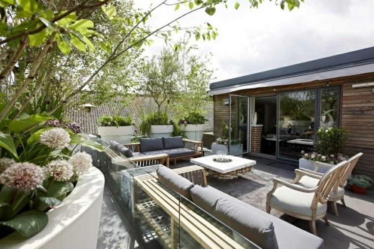 bonito diseño terraza moderna grande