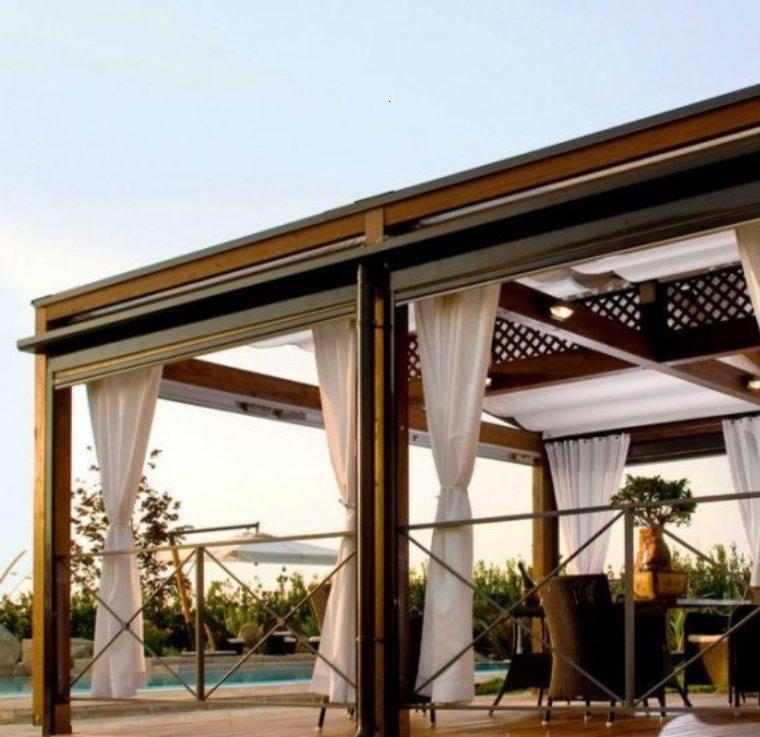 Gazebos y p rgolas ideas interesantes originales y modernas - Jardines decorados con madera ...