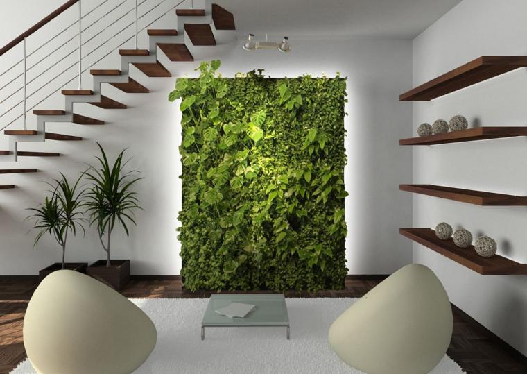 bonito salon diseño jardin vertical
