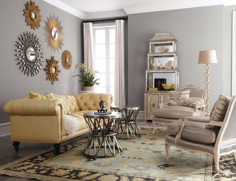 bonito sofa Chester amarillo claro